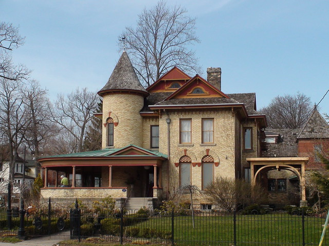 Old Style House At Niagara Falls Old City Ancient