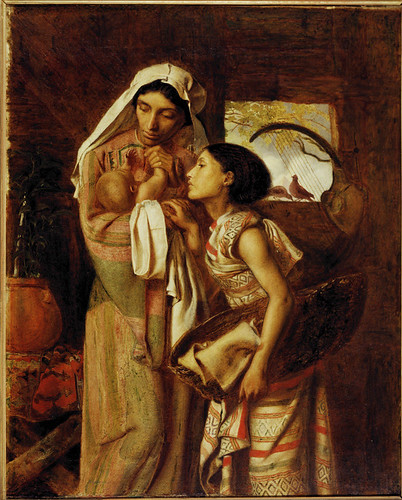 Solomon, Simeon (1840-1905) - 1860 The Mother of Moses (Delaware Art Museum, U.S.A)