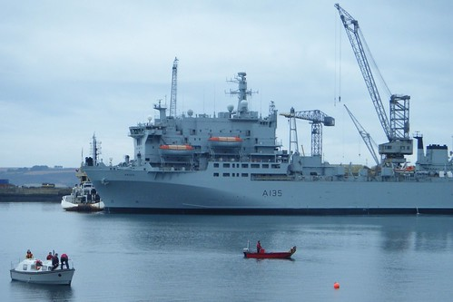 Falmouth, River Fal, RFA Argus docked by Stocker Images