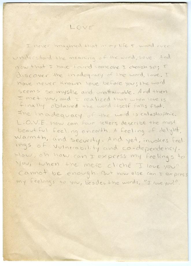 Found Love Letter