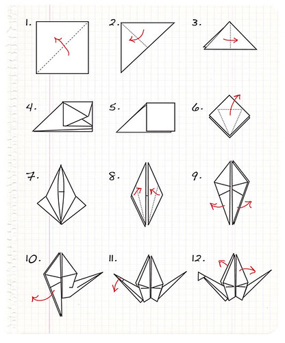 origami crane step by step a photo on flickriver
