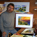 artist Joseph Stoddard in studio by Riverside Art Museum