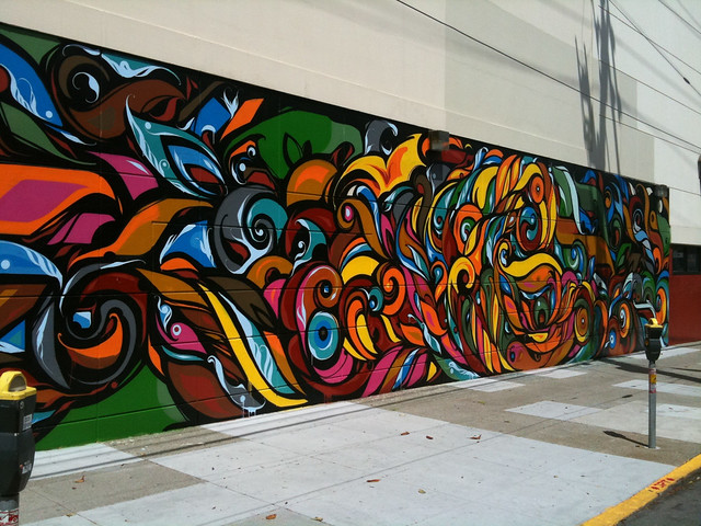 Colorspotting abstract mural flickr photo sharing for Abstract mural painting