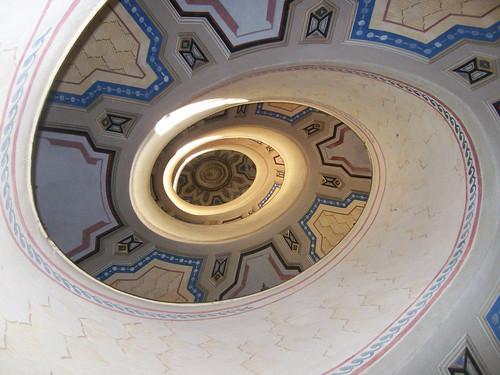 Vignola (Mo), la scala elicoidale di Palazzo Boncompagni-Benelli