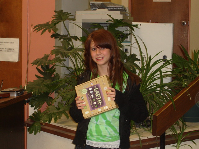 Catie is the winner of the Green Teen Contest at the Union Twp. Branch