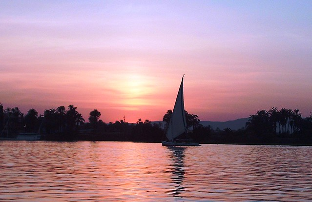 Felucca at Sunset on Nile