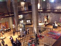 Inside Norwich Castle - looking down