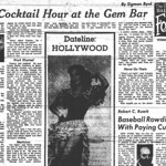 """The Cocktail Hour at the Gem Bar"" - The Stroller - Houston Press, Pg. 4 - Tuesday, May 19, 1953"