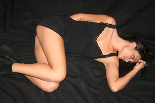 Sexy Woman Laying in Black... Contrast City???