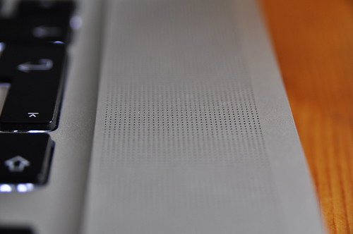 Speaker grille close-up