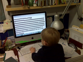 Toddler on Computer