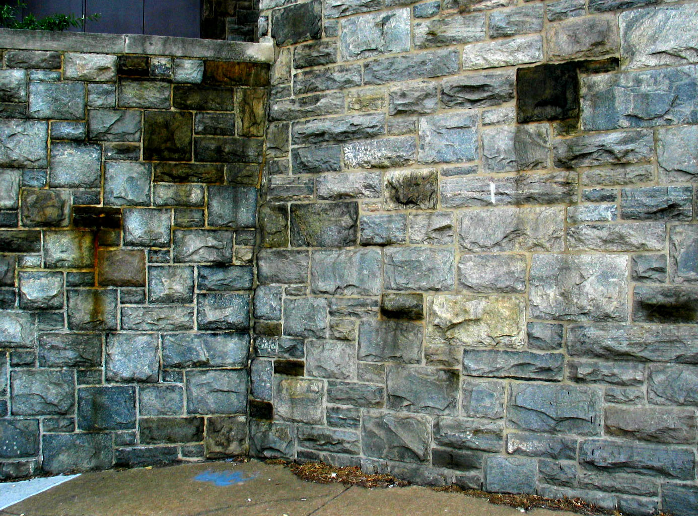 Granite Building Blocks : Stone granite blocks building walls weathered stained