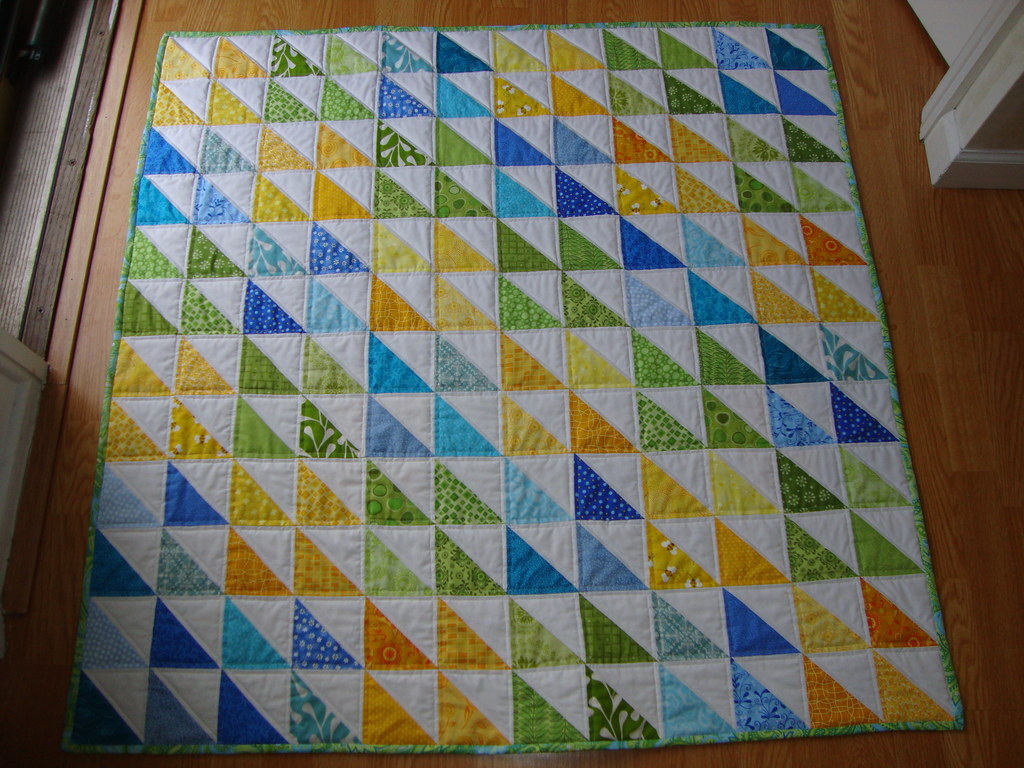 Baby Quilt Patterns With Triangles : half square triangle baby quilt Flickr - Photo Sharing!
