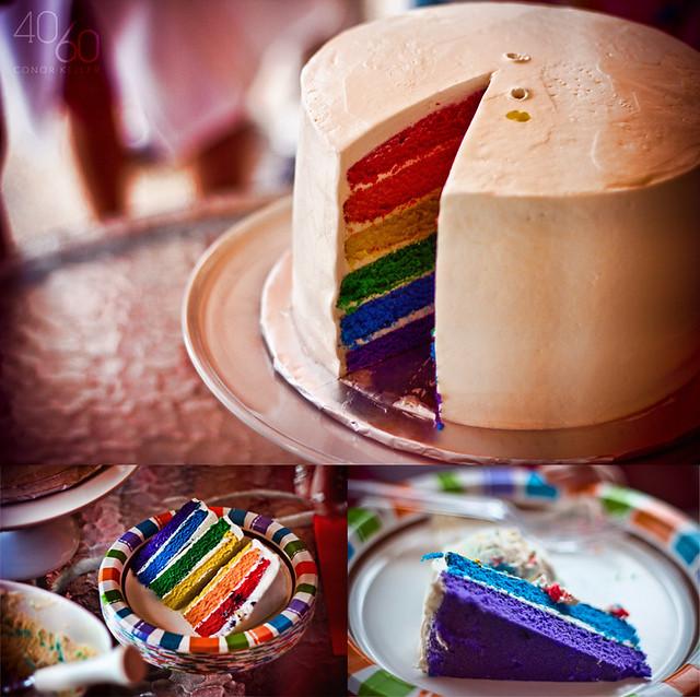 Recette Rainbow Cake Cr Ef Bf Bdme Au Beurre