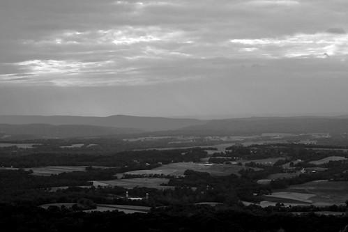 sunset bw geotagged pennsylvania farmland farms harrisburg appalachiantrial redfilter endoftheday dauphincounty petersmountain blackwhiteconversion geo:lat=40412026 geo:lon=76930411