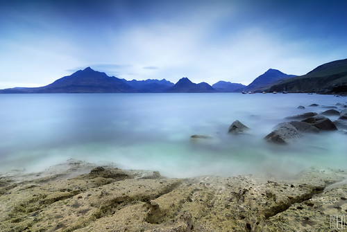 Elgol beach at down and dusk (Isle of Skye)
