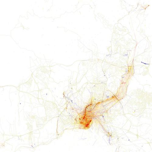 Isztambul a geolokációs pontokból - Forrás: Erick Fischer