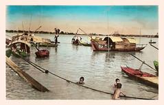 SAIGON. Les petites embarcations sur la rivière de Saïgon. 1951