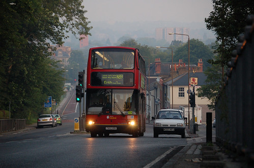 N89 on Shooters Hill at dawn