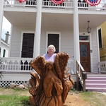 Donna Liebert with Statue