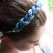 Hand knitted braided hairband