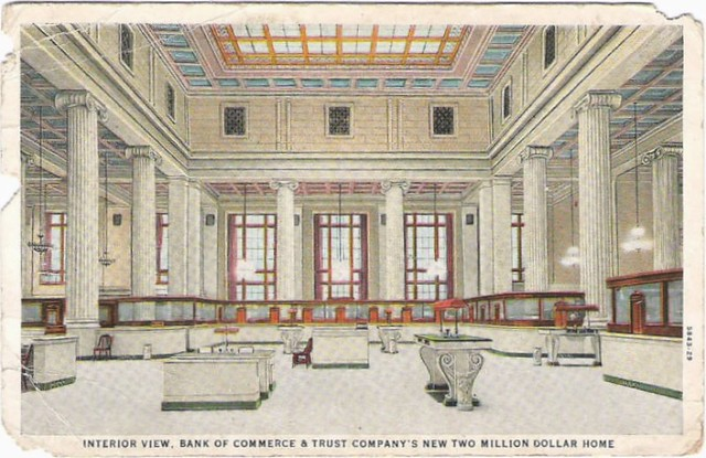 Interior View Bank Of Commerce Trust Company 39 S New Two