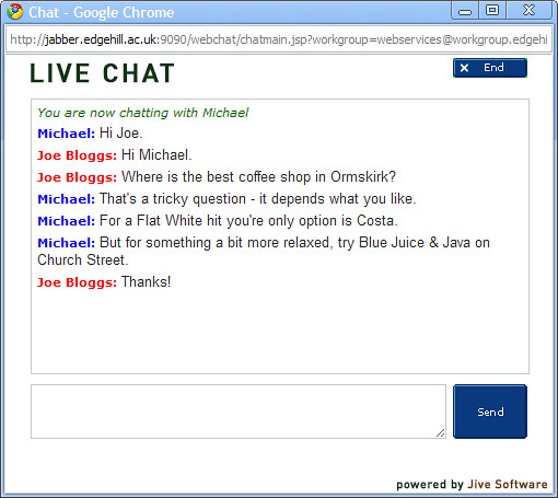 Live Chat web client