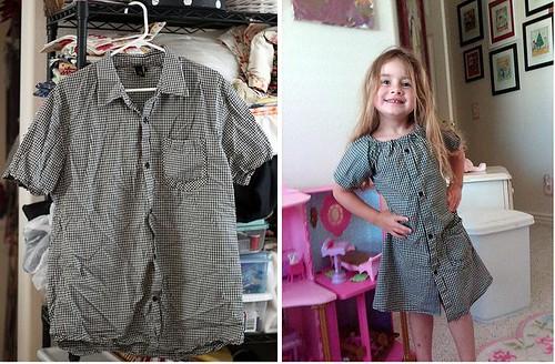 Le quaintrelle men 39 s shirt to girl 39 s dress for Make a dress shirt
