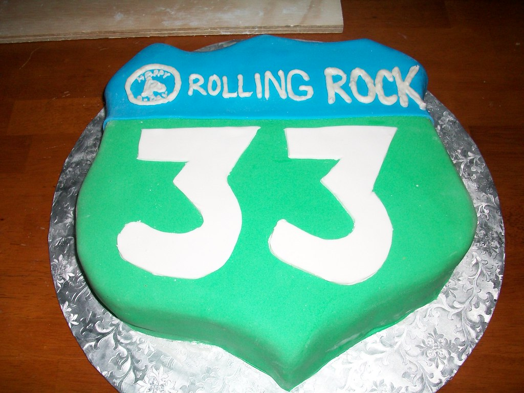 Rolling Rock 33rd Birthday Cake