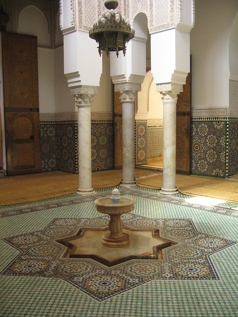 The 'fountain hall' in the Mausoleum of Moulay Ismaïl, Meknes