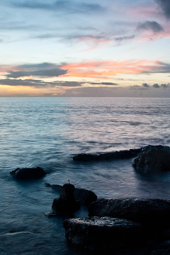 sunset rocks caribbean dominica caribbeansea