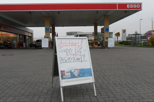Benzin ausverkauft