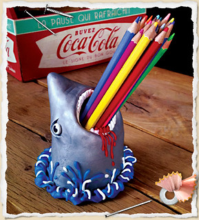 Fimo Shark Pencils