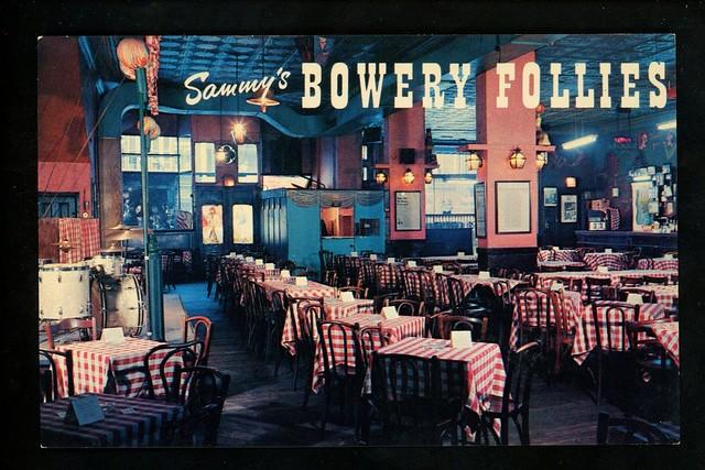 Restaurant-postcard-New-York-City-NY-Sammys-Bowery