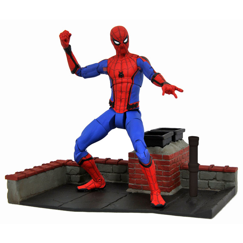 Marvel Select【蜘蛛人】蜘蛛人:返校日 Tech Suit Spider-Man 7 吋可動人偶作品