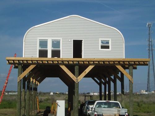 Steelmaster metal fishing cabin flickr photo sharing for Metal building cabin