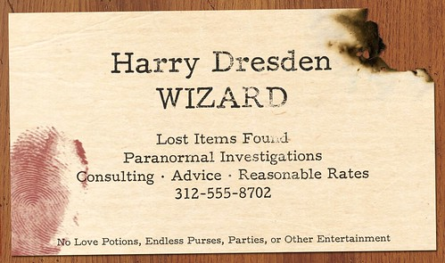 Harry Dresden s Business Card