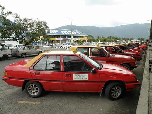 Taxis waiting for business, Malaysia