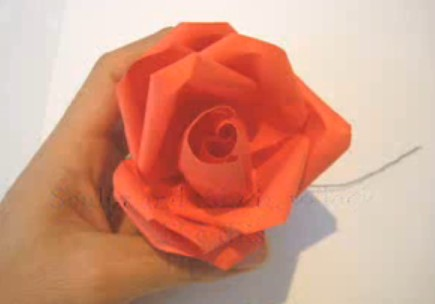 Origami Money Flower - How to Make a Flower ( Rosebud and ... - photo#44