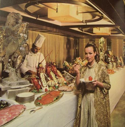 Italian Liner Raffaello- First Class Buffet