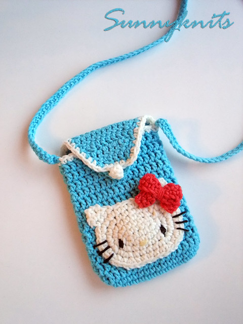 Crochet Purse Patterns Hello Kitty : Crochet