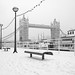 Butlers Wharf in Snow