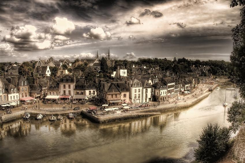 Auray France - port de saint Goustan