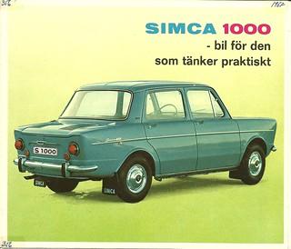 Simca 1000, 1967, Sweden