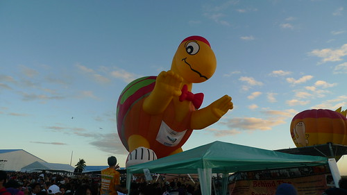 The Happy Turtle Says Hi! - my favorite balloon from the 15th Hor Air Balloon Fiesta