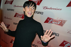 Johnny Weir at Club Bud - Burton Party