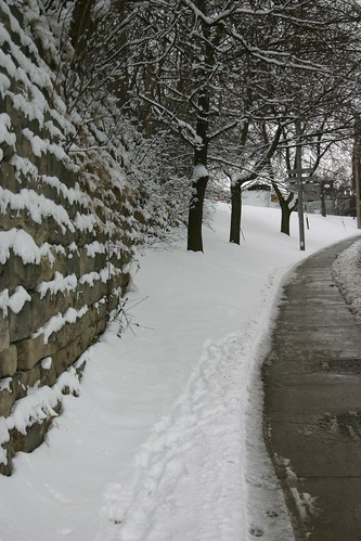 snowy wall perspectives -  Guelph by Our Enchanted Garden