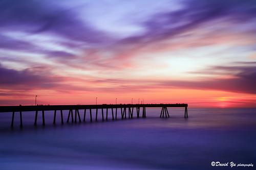 blue sunset color pier long exposure pacifica calmness top20longexposure