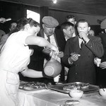Serving a snack at the St. Thomas Psychiatric Hospital Annual Fun Fair, 1960