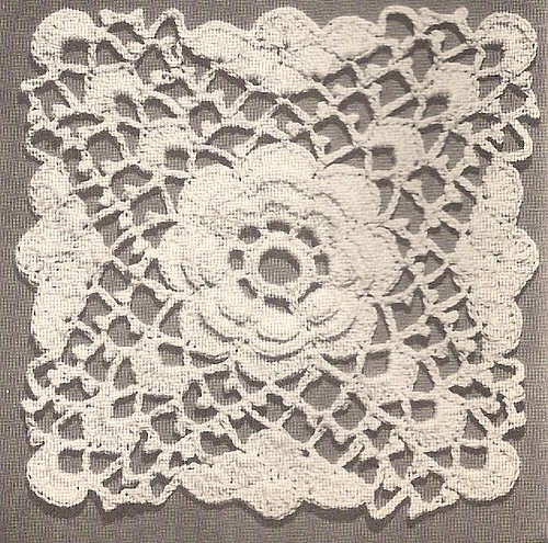 Free Rose and White Motif Crochet Pattern - Orble